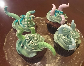 Cupcake Toppers: Tentacles
