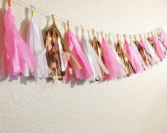 Tassel Garland | Birthday Party Decor | Chic Birthday Party | Girly | Birthday Banner | Bridal Shower Decorations | Baby Shower Decorations