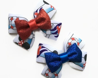 Disney Cruise Line Aquaduck Inspired Hair Bow