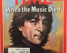 Vintage 198Os John Lennon TIme Magazine December 22, 1980 Beatles Collectible When the Music Died