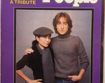 Vintage 198O Beatles Collectible John Lennon Tribute People Weekly Magazine December 22, 1980 Yoko Ono
