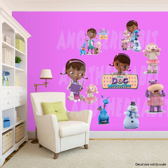 doc mcstuffins wall decal room decor by anotherhabit on etsy 15191 | il 570xn 966510036 fyv7
