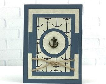 Birthday Day Card For Him ~ Nautical Happy Birthday Card ~ Birthday Card ~ Happy Birthday Card ~ Cards For Him ~Custom Card ~ Sailor Card