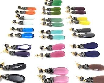 Crystal and Swarovski Drop Earrings