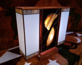 "Agate Stained Glass Lamp ""Coari"""