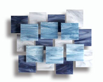 """Glass and Metal Wall Sculpture """"Arctic"""""""