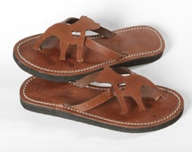 Pitbull Amstaff Bully Lady Shoes Flip Flops leather Handmade gift shoes