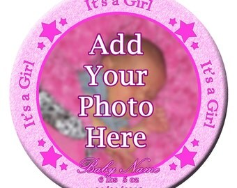 "3"" It's a Girl Pinback Button"