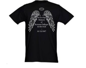 In Loving Memory Personalized ~ T Shirt//Custom//In Honor//Memorial//Atb Apparel