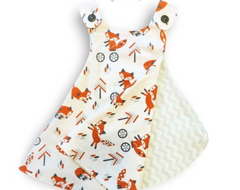 Reversible Baby/Toddler Dress - Foxy Lady