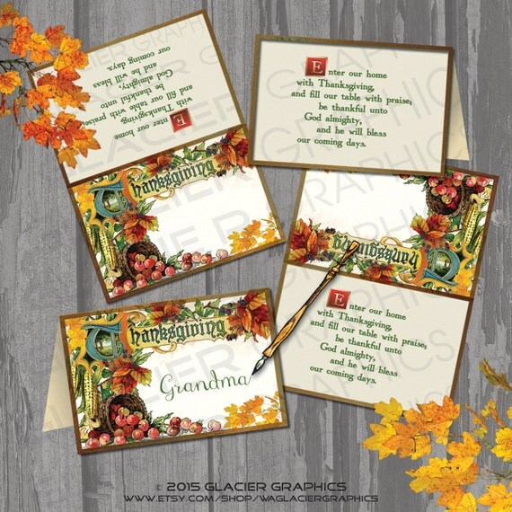 Thanksgiving Printable Place Cards Thanksgiving Wikii