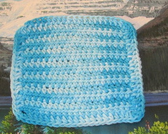 0253 Hand crochet dish cloth 6 by 6