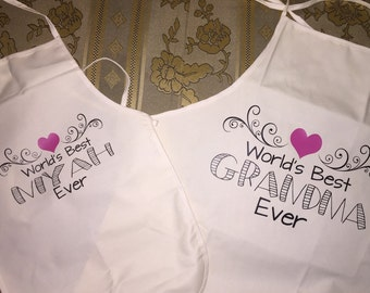 Mommy and Me matching aprons/Mommy daughter matching aprons/ grandma granddaughter matching aprons/matching aprons/mommy and me/mimi/nana