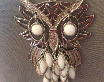 "1970""s Huge Owl Necklace"
