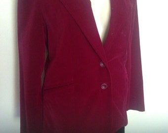 1970's Burgundy Velvet Jacket