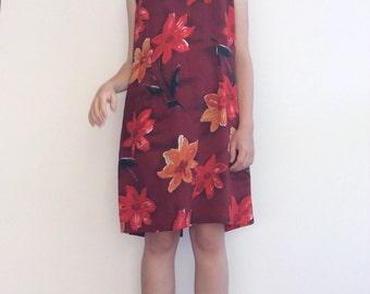 90s floral shift dress
