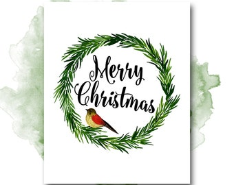 Merry Christmas Printable Art