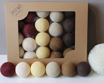 Cotton Balls Vine Beige 10 items