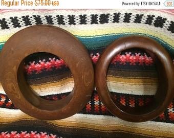 Sale 2 Vintage wood hat brim forms