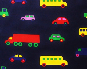 Marimekko cotton fabric, Pikku Bo Boo navy 145x50cm, by Katsuji Wakisaka