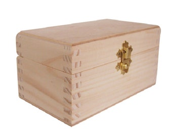 Plain Wooden Tea Box Two Compartment Removable Dividers