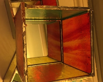Handmade Stained Glass Tealight Holder