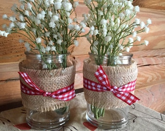 Picnic themed center pieces