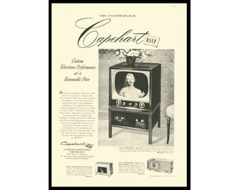 1953 Print Ad Capehart Television Radios With Prices
