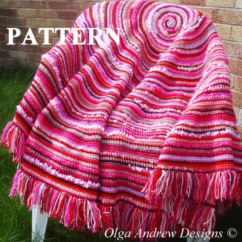 Boho shawl crochet pattern boho blanket crochet pattern round zoom bankloansurffo Images