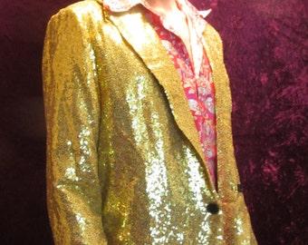 Gold Sequin Blazer