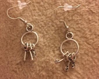 Key Earrings - O33