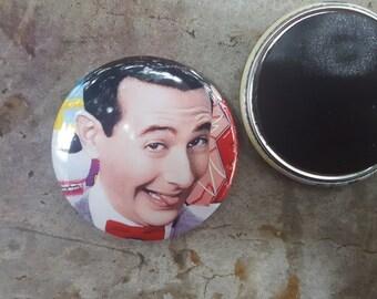 "Magnet 2.25"" 58mm Pee Wee Herman PeeWee Playhouse 80s TV Button Fridge Magnet"