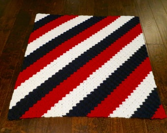 Red, White, and Blue Patriotic Baby Blanket