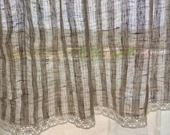 Shabby chic curtains | Etsy