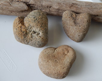 Speckled Heart Shaped Rocks Stones Whimsical Primitive Natural Organic Raw Columbia River