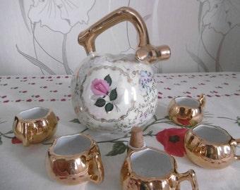 Service to liquor Calvados French vintage genuine fine porcelain