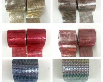 "Matel Mesh 2""inch Wide (5cm) Ribbon Iron-On.Selling By Piece (1 1/2Yard )"