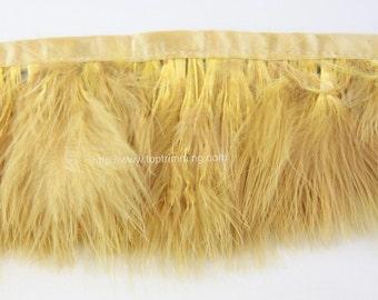 "Marabou Turkey Fluff Feather Fringe Trim 3""-4""long"