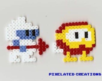 Dig Dug Perler Fused Bead Set - Available as Magnet or Stands