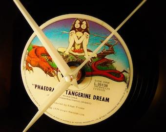 Retro Wall Clock - Tangerine Dream - Retro Record Clock - Vinyl Clocks