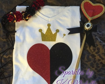 Inspired Queen of Hearts Shirt