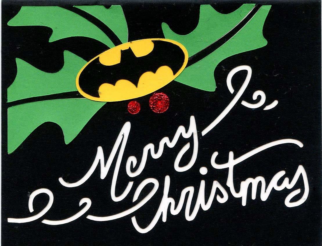 Batman Merry Christmas Holiday Greeting Card