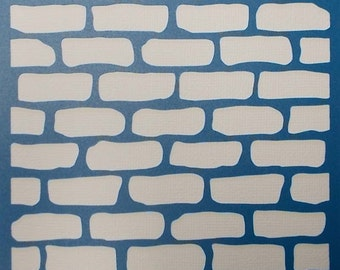 Brick Wall Background Stencil