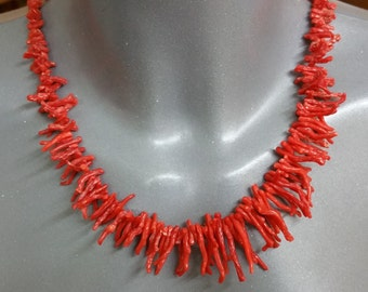 Coral necklace branch coral red 50s SK880