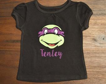 Ninja Turtle Shirt; Girl Ninja Turtle Shirt