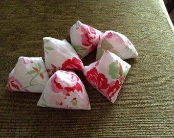 Set of 6 pattern weights , Cath Kidston/Ikea Rosali Fabric