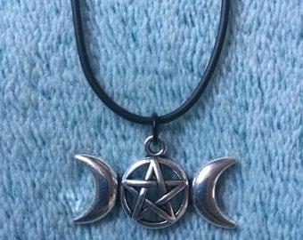 Three Moon Goddess Necklace