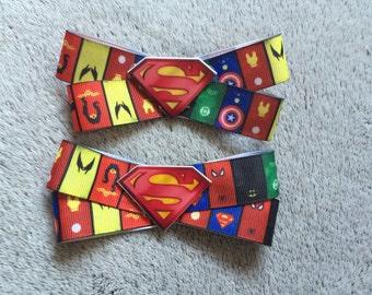 Superheroes Hair Bow Clip