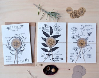 Botanical Cards / Set of Three