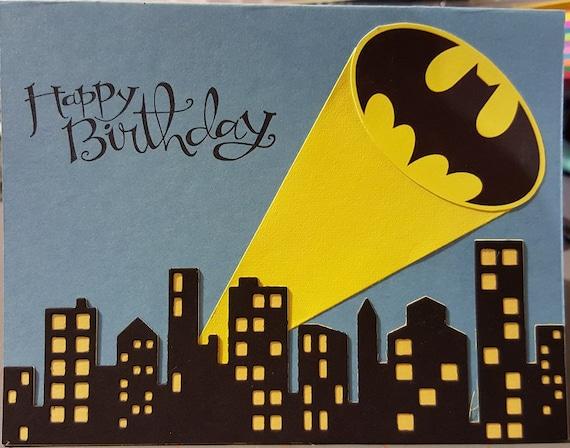 Handmade Batman Birthday Fathers Day Card – Batman Birthday Cards